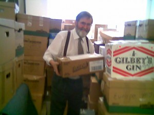 Ian with boxes