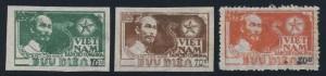 North Vietnam #12-14, black surcharge