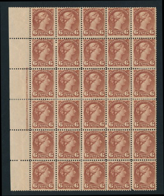 Canada #43 NH block of 30