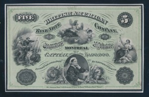 BNA Bank Note Company Advertising sheet with vignettes