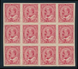 Canada 2c Edward #90a block of 12