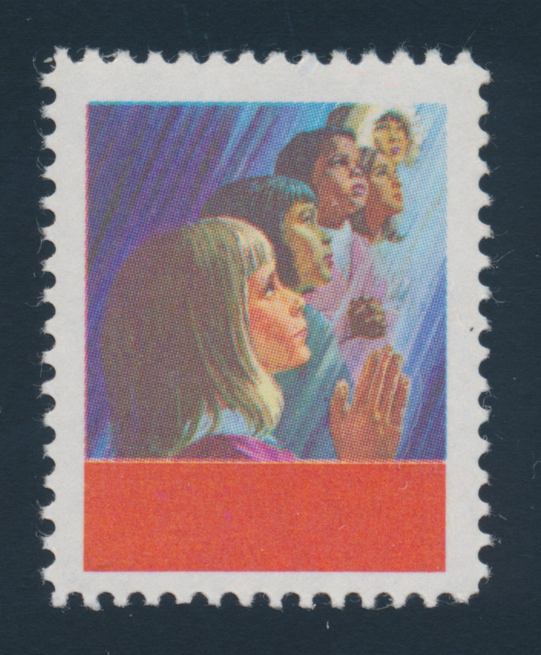 Lot 341 Canada 503a 1969 6 Cent Christmas Children Praying With Black Colour Omitted Mint Never Hinged And A Very Fine Dramatic Error