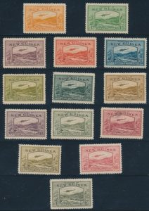 Lot 669 New Guinea #C46-C59 1939 ½d to £1 Air Mail set
