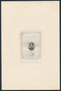 Lot 51 Canada 1859 Prince Consort vignette die proof essay