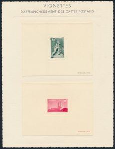 Lot 2867, France, Vimy postal stationery proofs, realized $834