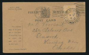 Lot 2871, two Vimy Ridge covers, one from first day of battle, sold for $489