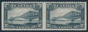 Lot 677, Canada 1929 twelve cent Québec Bridge imperf pair, VF NH, sold for $402