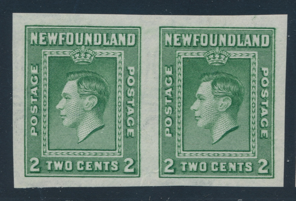Stamps Canada Newfoundland #187v Queen Mary Single Imperferated On Bottom Margin