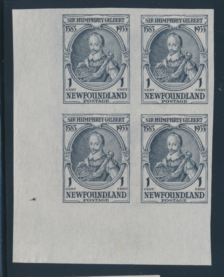 Newfoundland #187v Queen Mary Single Imperferated On Bottom Margin Nfld (pre-1949)