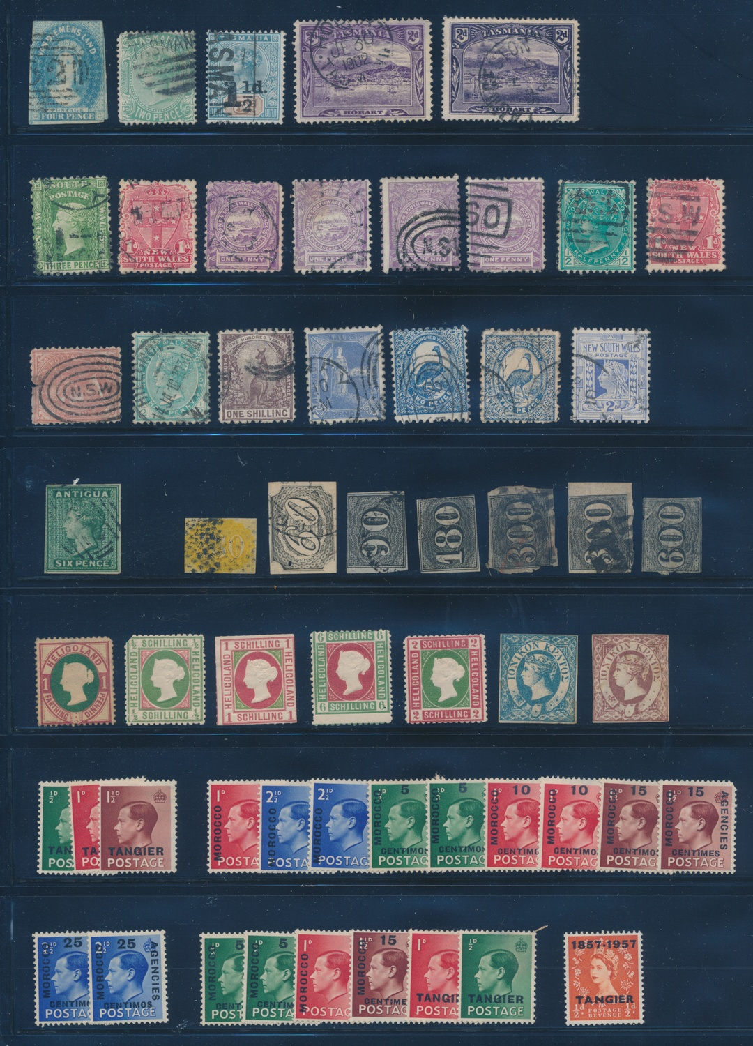 Mint** Antigua Barbuda Ce-tenant 4 Block Stamp With The Best Service Stamps