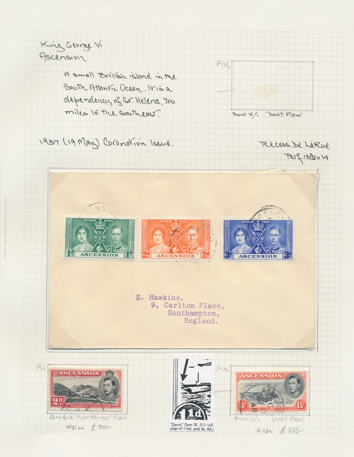 Stamps Symbol Of The Brand 1937 Ascension Coronation Issue Fdc