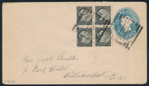 Lot 3526, BLEEKER ST. TORONTO Hammer I squared circles, two VF examples on covers sold for $402