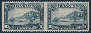 Lot 677, Canada 1929 twelve cent Québec Bridge imperf pair, VF NH, sold for $402