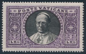 ex-Lot 396, Vatican City 1933 definitives part set, VF NH