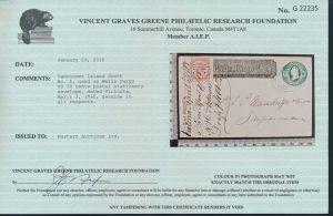 2015 V.G. Greene Foundation certificate