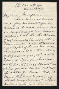Letter composed December 1891