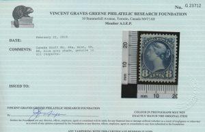 2016 V.G. Greene Foundation certificate
