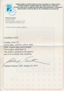 2017 Richard Gratton AIEP certificate