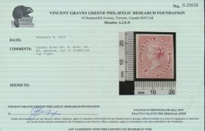2016 V. G. Greene Foundation certificate