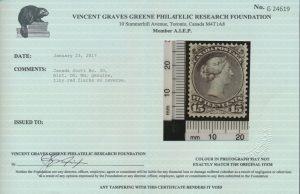 2017 V. G. Green Foundation certificate