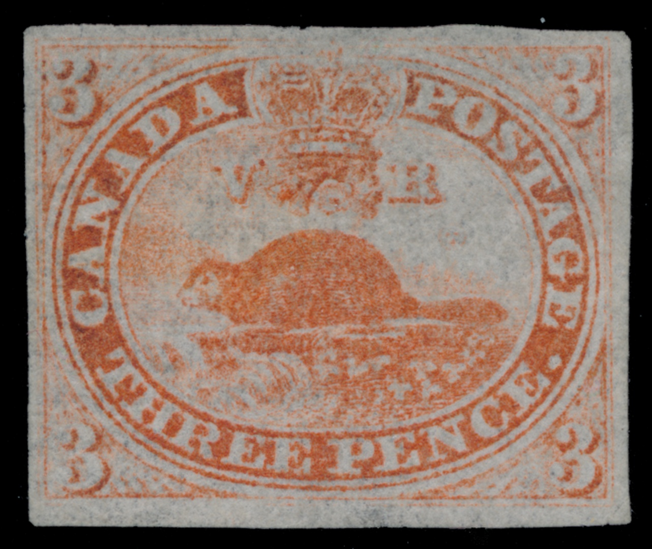 Canadas First Stamp A Three Penny Value Paying The Domestic Rate And Showing Beaver Was Engraved By Alfred Jones Using Very Similar Design Proposed