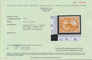 2009 VG Greene certificate