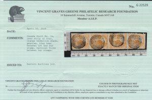 2015 V.G. Greene certificate