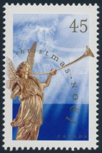 Lot 173, Canada 1998 forty-five cent Angel, perf 13.1 x 13.6, VF NH, sold for $316