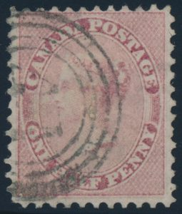 Lot 29, Canada 1858 half cent rose Victoria, used F-VF, sold for $776
