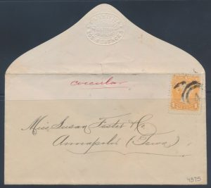 Lot 547, Canada two-ring #4 Halifax postmark on cover, lot sold for $316