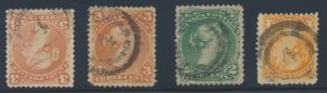 Lot 547, Canada two-ring #4 Halifax postmarks on stamps, lot sold for $316