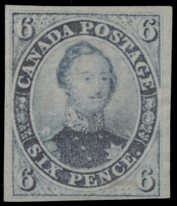 Lot 10, Canada 1851 six pence slate violet Consort, F-VF NG