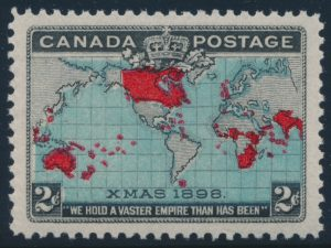 Lot 261, Canada 1898 two cent blue Map, XF NH, sold for $431.25