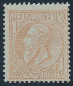 Lot 802, Belgium 1885 one franc brown King Leopold II, mint hinged