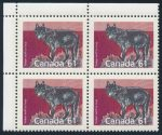 Canada 1990 61c Timber Wolf matched plate blocks, perf 13.1, sold for $2300