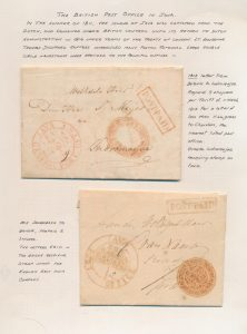 Lot 1436, two folded letters mailed from the British Post Office in Java, 1813 & 1815