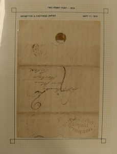 Lot 1418, Great Britain postal history collection 1783-1879, sold for C$850
