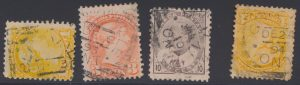 Ex-Lot 1193, Collection of Type II Ontario strikes on stamps, sold for C$2,645