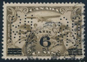 Lot 510, Canada 1932 6c on 5c Air Mail 5-hole OHMS official, sold for C$546