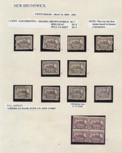 Lot 641, Lovely New Brunswick collection on quadrille pages, sold for C$1,207