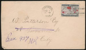 Lot 351, Canada 1898 two cent Map Stamp First Day Cover, Montréal