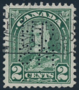 Lot 481, Canada 1930 two cent Arch Official, VF used, sold for C$316