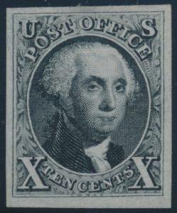 "Lot 1068, USA 1875 ten cent black Washington ""reproduction"", unused VF"