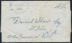 Lot 1248, New Brunswick 1841 St John ship letter