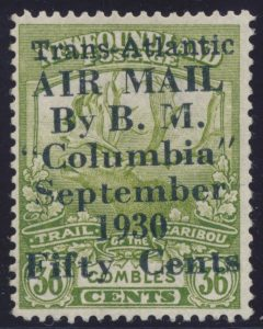 Lot 776, Newfoundland 1930 Columbia Flight surcharge, mint F-VF
