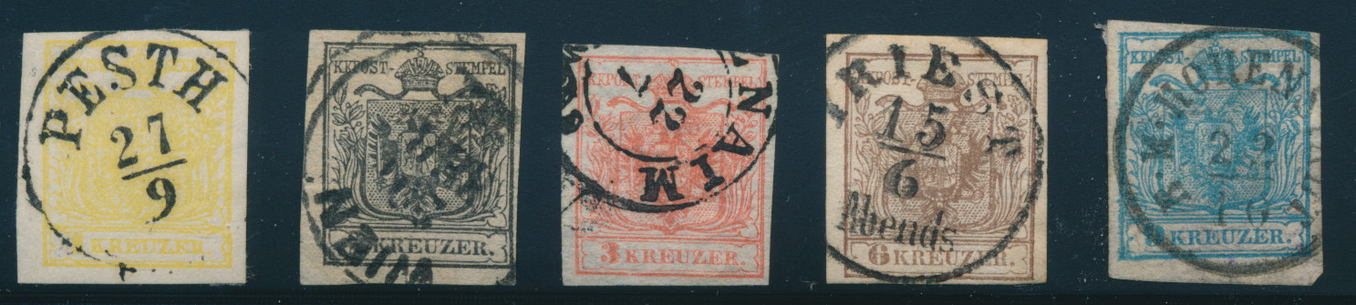 Lot 1001, Austria 1850 First Issue of the Monarchy used c d s  set
