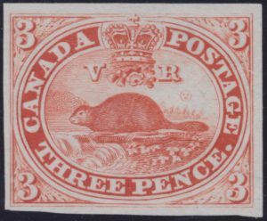 Lot 3, Canada 1850s three penny Beaver plate proof, sold for C$374