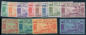 Lot 916, New Hebrides 1938 Pictorial Set, VF NH, sold for C$288