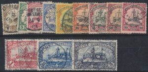 Lot 1026, German South West Africa 1900 Kaiser's Yacht set, used F-VF, sold for C$265