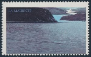 Lot 377 Canada #1084a 1986 $5 La Mauricie with Dark Blue Inscriptions Omitted